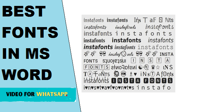 fonts in ms word